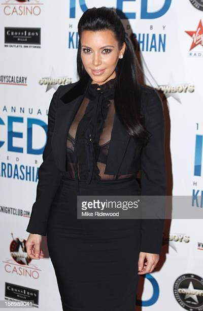 Kim Kardashian hosts ICED at Cowboys Dance Hall January 4 2013 in Calgary Canada