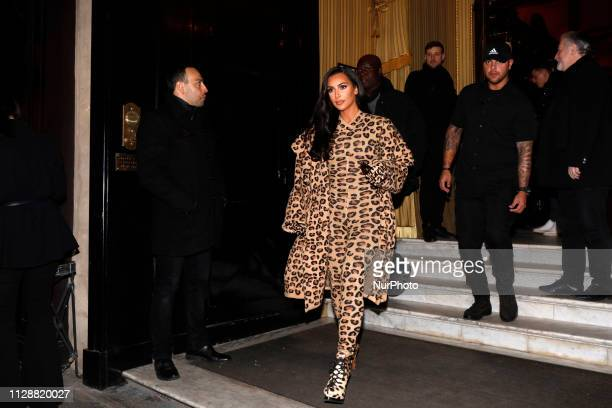 Kim Kardashian in Paris France on March 5 2019