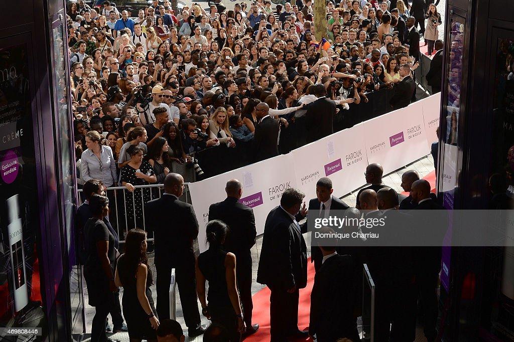 Kim Kardashian introduces her 'Kardashian Beauty Hair' line at Marionnaud Champs Elysees on April 15, 2015 in Paris, France.