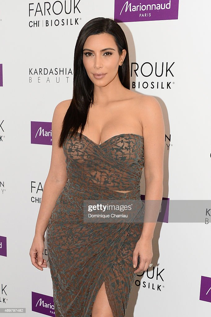 Kim Kardashian introduces 'Kardashian Beauty Hair' line at Marionnaud Champs Elysees