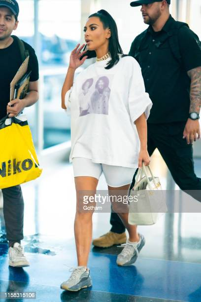 Kim Kardashian is seen at JFK Airport in Queens on June 25 2019 in New York City