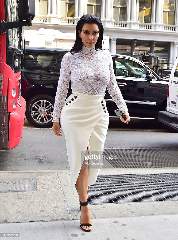 Kim Kardashian is seen in Soho on May 5, 2015 in New York City.