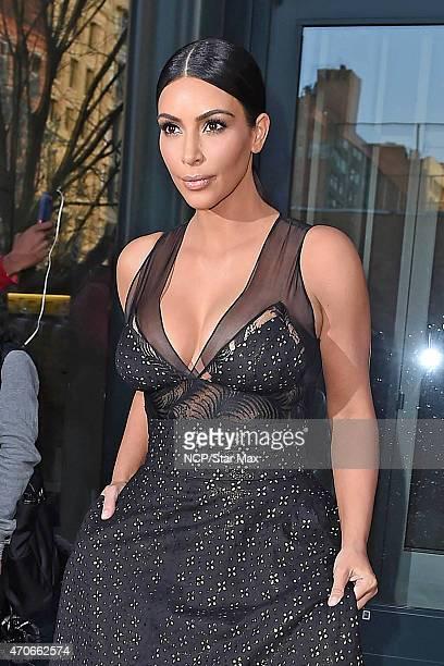 Kim Kardashian is seen on April 21 2015 in New York City