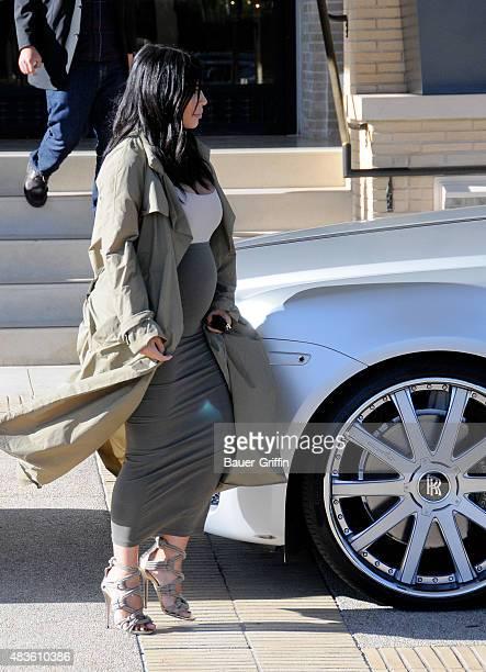 Kim Kardashian is seen on August 10, 2015 in Los Angeles, California.