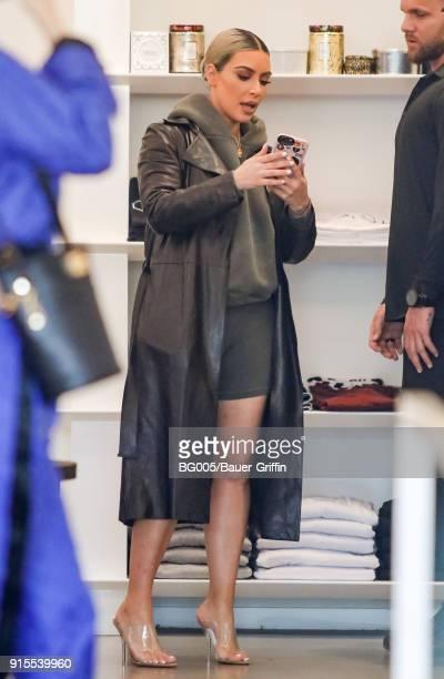 Kim Kardashian is seen on February 07 2018 in Los Angeles California