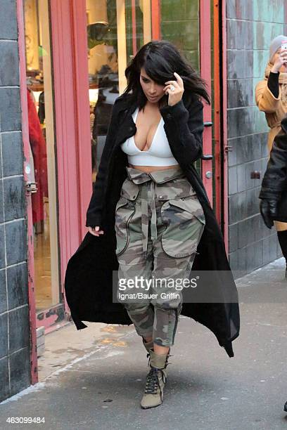 Kim Kardashian is seen on February 09 2015 in New York City
