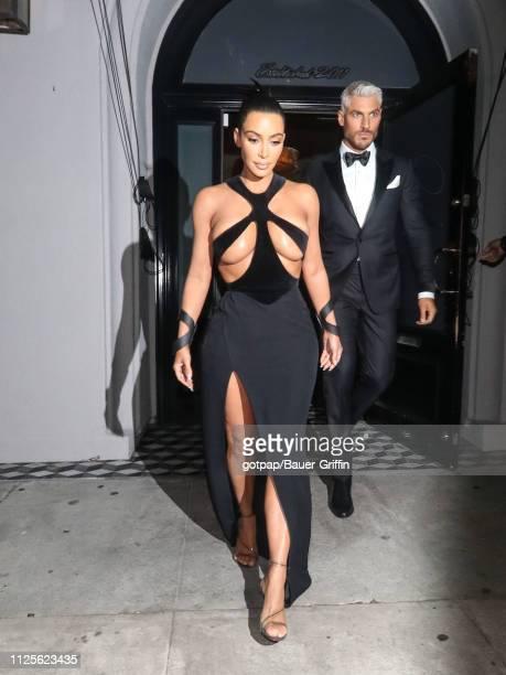 Kim Kardashian is seen on February 17, 2019 in Los Angeles, California.