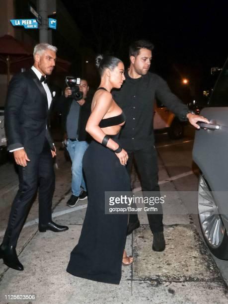 Kim Kardashian is seen on February 17 2019 in Los Angeles California