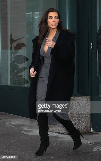 Kim Kardashian is seen on February 19 2014 in New York City