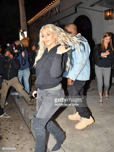 Kim Kardashian is seen on January 12 2018 in Los Angeles California