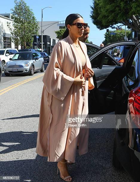 Kim Kardashian is seen on July 26 2015 in Los Angeles California