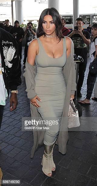 Kim Kardashian is seen on June 12 2016 in Los Angeles California