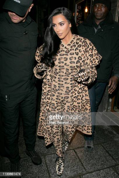 Kim Kardashian is seen on March 05 2019 in Paris France