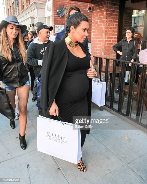 Kim Kardashian is seen on November 09 2015 in Los Angeles California