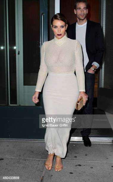 Kim Kardashian is seen on November 18 2013 in New York City
