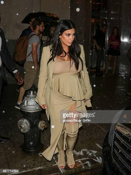 Kim Kardashian is seen on September 10 2015 in New York City