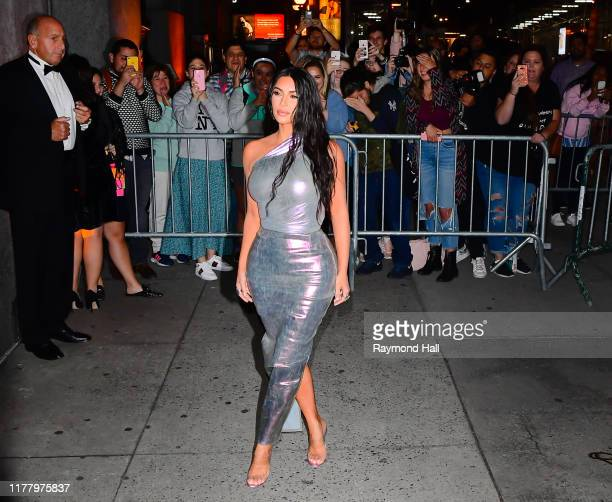 Kim Kardashian is seen outside Cipriani Wall Street on October 24, 2019 in New York City.