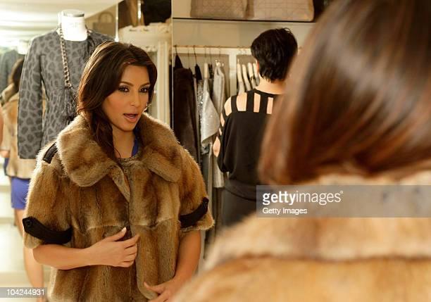Kim Kardashian is seen shopping at the Grey Flanel shop on September 18 2010 in Capri Italy
