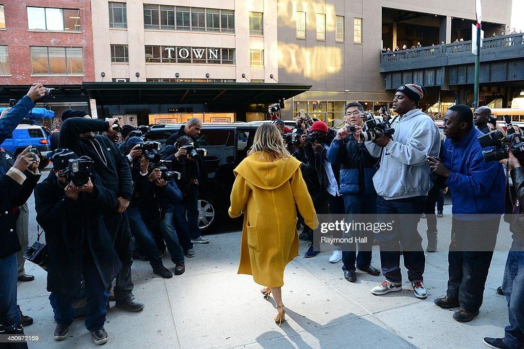 Kim Kardashian is seen walking in Soho on November 20, 2013 in New York City.
