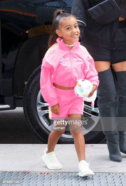 Kim Kardashian Jonathan Cheban and North West go on a ice cream date with a young friend on June 14 2018 in New York City