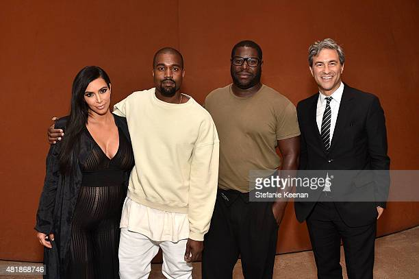 Kim Kardashian Kayne West Steve McQueen and LACMA Director and CEO Michael Govan attend LACMA Director's Conversation With Steve McQueen Kanye West...