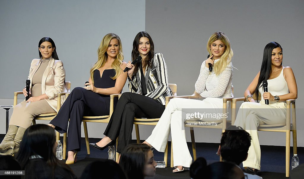 Apple Store Soho Presents Meet The Developers: Kim Kardashian, Kourtney Kardashian, Khloe Kardashian, Kendall Jenner & Kylie Jenner : News Photo