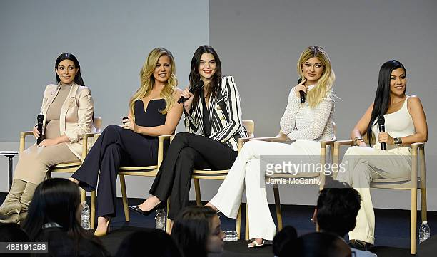 Kim Kardashian, Khloé Kardashian , Kendall Jenner, Kylie Jenner and Kourtney Kardashian attend Apple Store Soho Presents Meet The Developers at Apple...