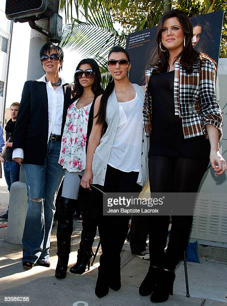 Kim Kardashian Kloe Kardashian Kourtney Kardashian Kris and Jenner Kardashian attend the unveiling of Khloe Kardashian's PETA Fur I'd Rather Go Naked...