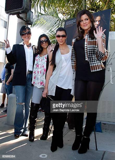 Kim Kardashian Kloe Kardashian Kourtney Kardashian Kris and Jenner Kardashian attend the unveiling of Khloe Kardashian's PETA 'Fur I'd Rather Go...