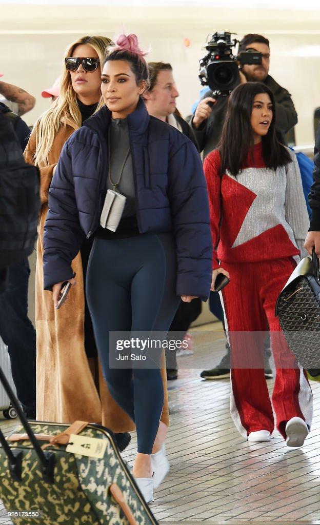 Kim Kardashian, Kourtney Kardashian and Khloe Kardashian Sighting in Tokyo : News Photo