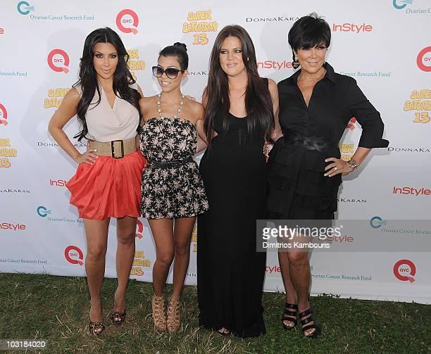 Kim Kardashian Kourtney Kardashian Khloe Kardashian and Kris Jenner attend Super Saturday 13 to Benefit Ovarian Cancer Research Fund hosted by...