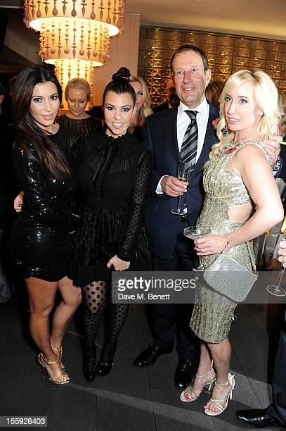 Kim Kardashian Kourtney Kardashian Richard Desmond and Joy Canfield attend the Kardashian Kollection launch for Dorothy Perkins at Aqua on November 8...