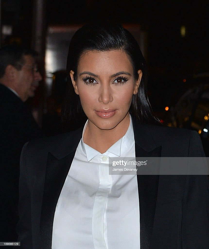 Kim Kardashian leaves 'Late Show with David Letterman' at Ed Sullivan Theater on January 16, 2013 in New York City.