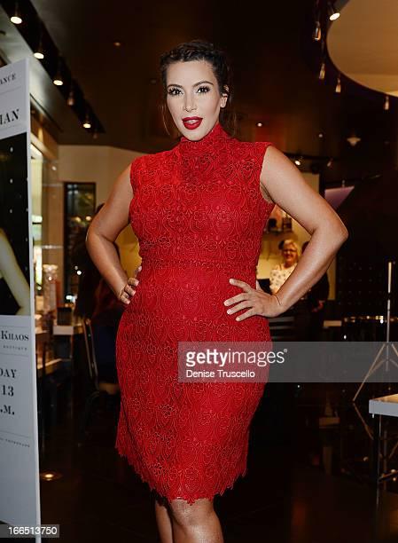 Kim Kardashian makes a special appearance at Kardashian Khaos at the Mirage Hotel and Casino on April 13 2013 in Las Vegas Nevada