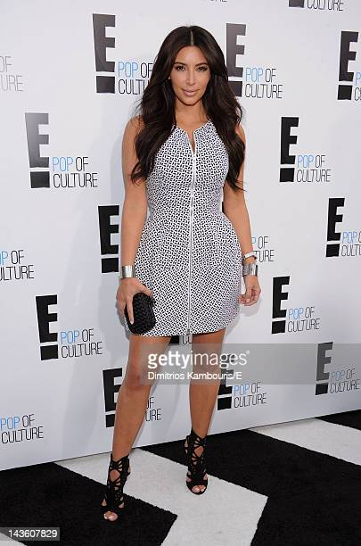 """Kim Kardashian of """"Keeping Up With The Kardashians"""" attends E! 2012 Upfront at NYC Gotham Hall on April 30, 2012 in New York City."""