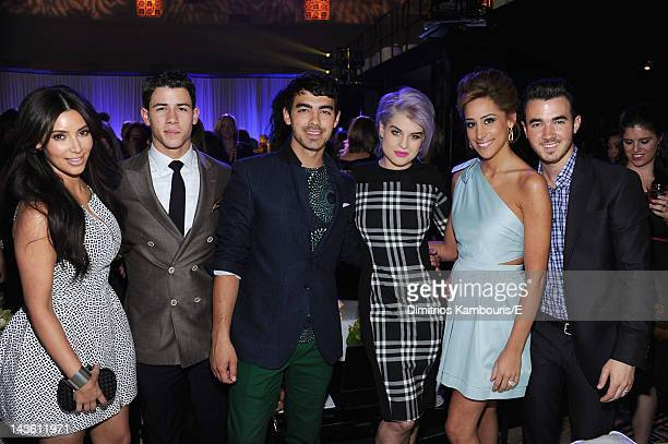 Kim Kardashian of Keeping Up With The Kardashians Nick Jonas Joe Jonas of Married To Jonas Kelly Osbourne of Fashion Police Daniielle Jonas and Kevin...