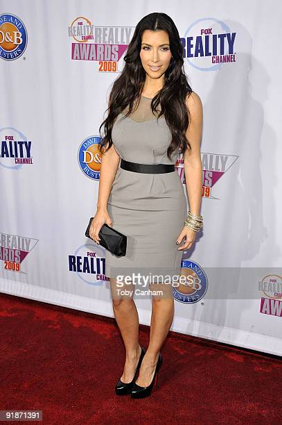 Kim Kardashian poses for a picture at the 2009 Fox Reality Channels Really Awards held at The Music Box @ Fonda on October 13 2009 in Los Angeles...