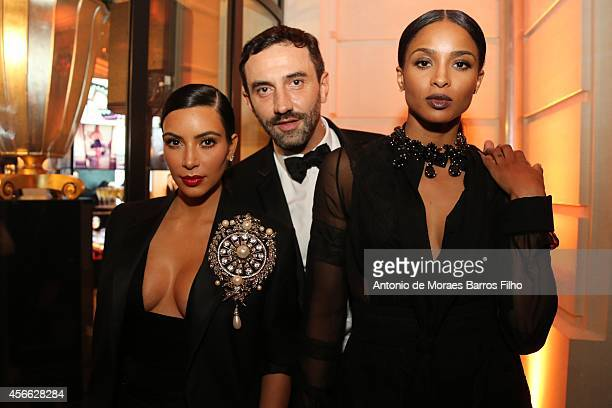 Kim Kardashian Riccardo Tisci and Ciara attend the CR Fashion Book Issue No5 Launch Party hosted by Carine Roitfeld and Stephen Gan at The Peninsula...