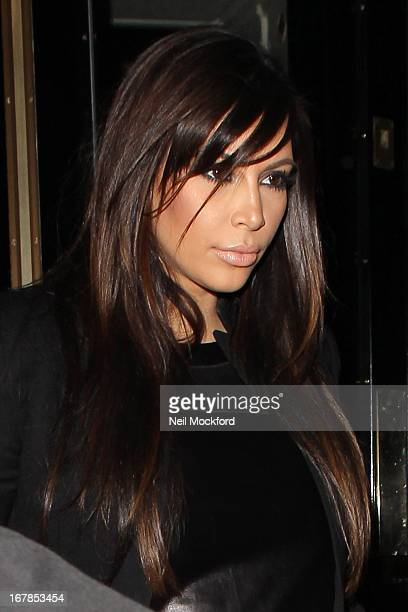 Kim Kardashian seen leaving the Dorchester hotel to go the Beyonce gig at the O2 on May 1 2013 in London England