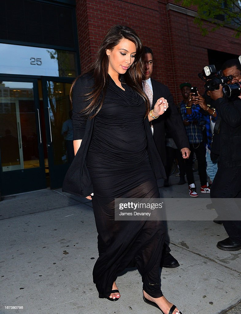 Kim Kardashian seen on the streets of Manhattan on April 24, 2013 in New York City.