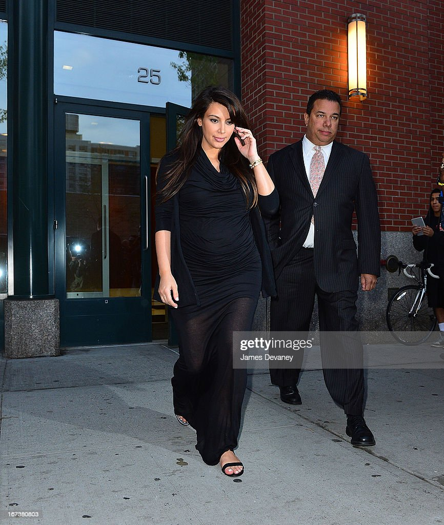 Kim Kardashian seen on the streets of Manhattan on April 24, 2013 in New York City.