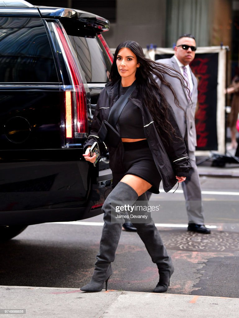 Kim Kardashian seen on the streets of Manhattan on June 14, 2018 in New York City.