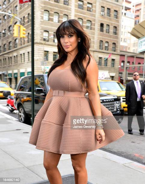 Kim Kardashian seen on the streets of Manhattan on March 26 2013 in New York City
