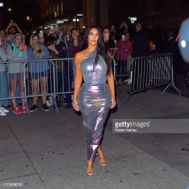 Kim Kardashian seen out and about in Manhattan on October 24, 2019 in New York City.