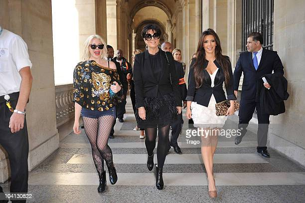Kim Kardashian sighting in Paris at le musée du Louvre on September 15 2010 in Paris France