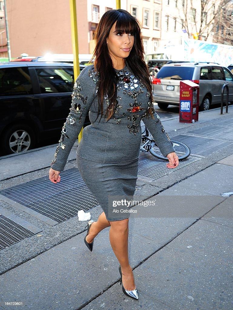 Kim Kardashian sighting on March 27, 2013 in New York City.
