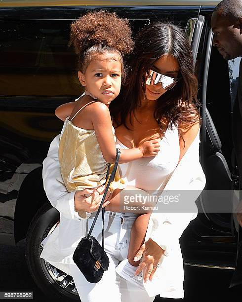 Kim Kardashian takes North West and Nori West out to eat and some fun in Manhattan on September 2 2016 in New York City