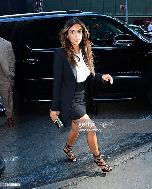 Kim Kardashian visits ABC's 'Good Morning America' in Times Square on September 13 2012 in New York City