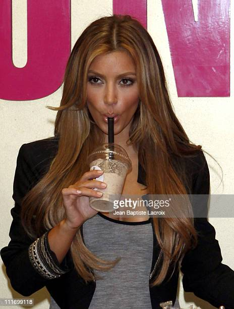 Kim Kardashian visits Millions of Milkshakes on August 29 2009 in Los Angeles California