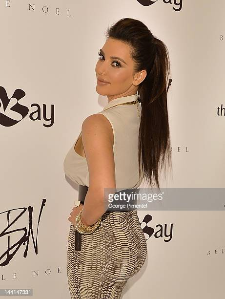 Kim Kardashian visits The Bay Queen Street celebrating the Canadian debut of her jewellery line Belle Noel on May 10 2012 in Toronto Canada